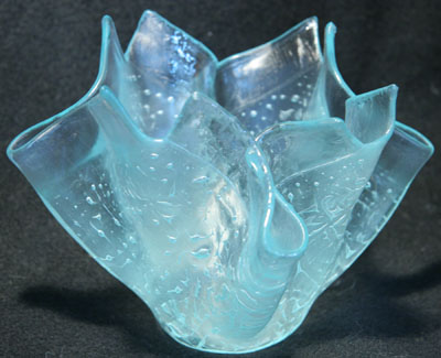 "Floral Slumping Vase - 4.5"" tall - Lincoln Glass Wholesale"
