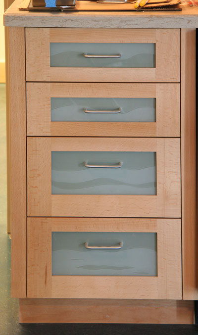 Above Cabinet Drawer Fronts Were
