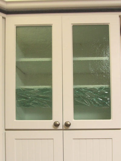Alcova Ice Fused Cabinet Door Glass.