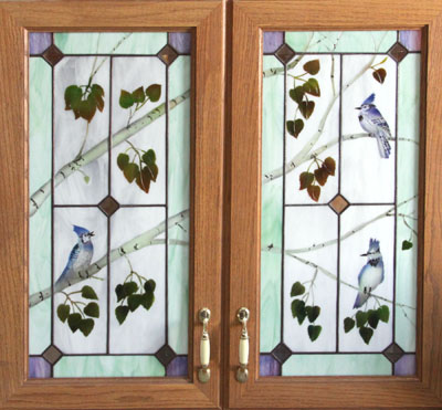 Nice Stained Glass Cabinet Doors Model